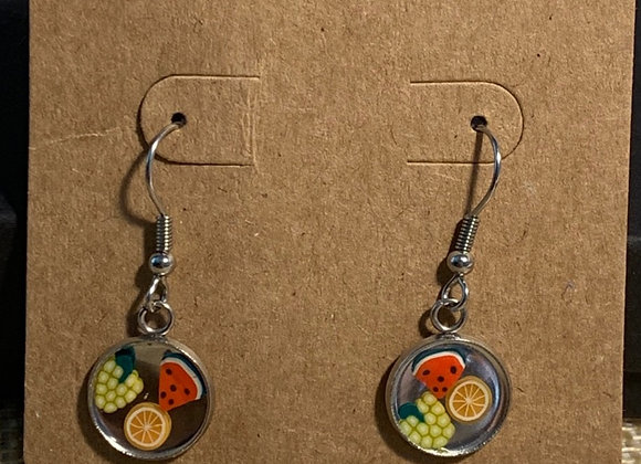 Fruit Cabochon Earrings
