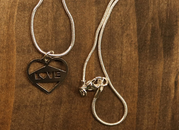 Love Pendant (Optional Necklace Available)