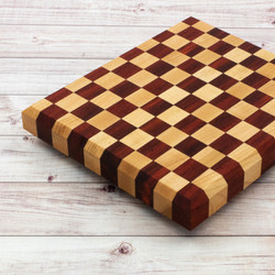 Maple and Padauk Checkerboard Cutting Board