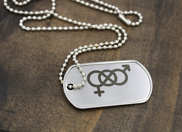 Bi Pride Dog Tag