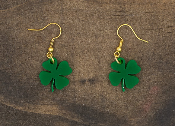 Four Leaf Clover Acrylic Earrings