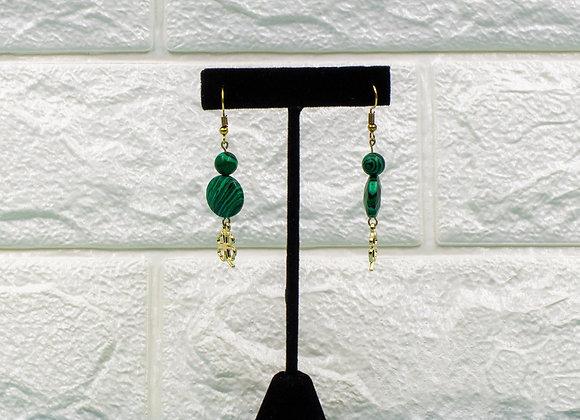 Shamrock Malachite Earrings