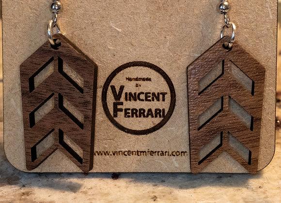 Walnut Chevron Earrings