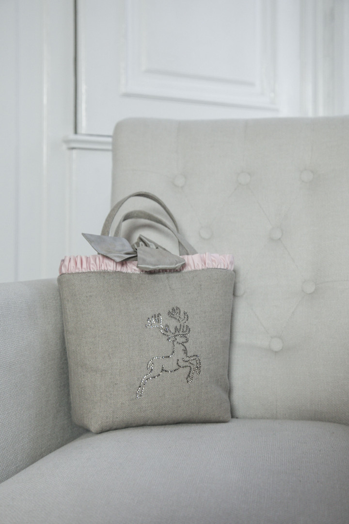 Handtasche aus Leinen in Jute
