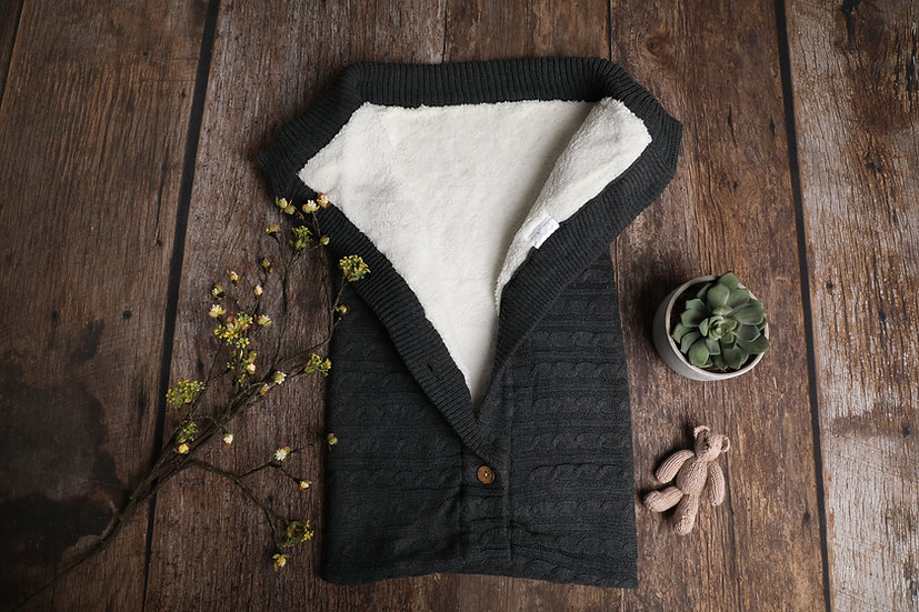 Soft Rustic Knitted Sleeping Blanket by Neve Maria