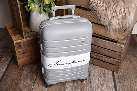 Grey 20-Inch Multi Textured Hard Shell Suitcase