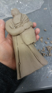 rough stage of carving