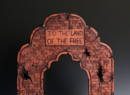 """Gate on the Border"" Ceramic Sculpture"