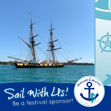Mermaids and Mariners on the St. Clair Sponsorship Tall Ship