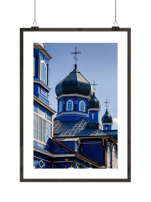 """Plakat z Polski """"Cerkiew w Puchłach"""""""
