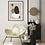 Plakat ze sztuką abstrakcyjną jako dodatek do minimalistycznego salonu