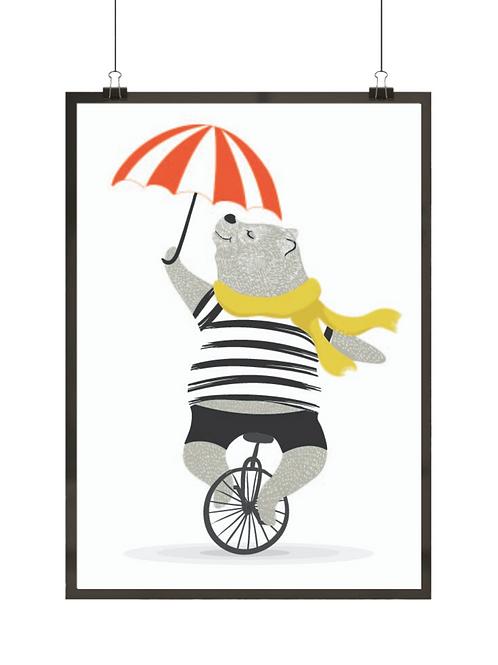 Miś z parasolką