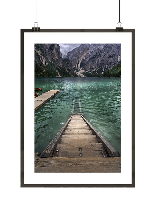Jezioro w Dolomitach