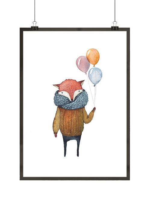 Lisek z balonami