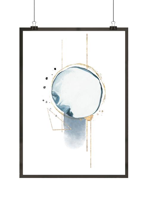 Granatowa abstrakcja nr 2