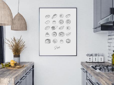 Plakaty do kuchni - jakie wybrać, gdzie umieścić?