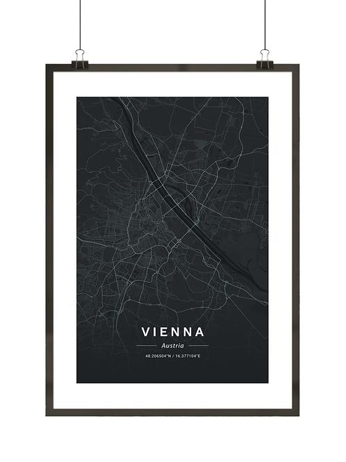 Mapa Wiednia