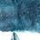 """Plakat minimalistyczny """"Wieloryb i niebo"""""""