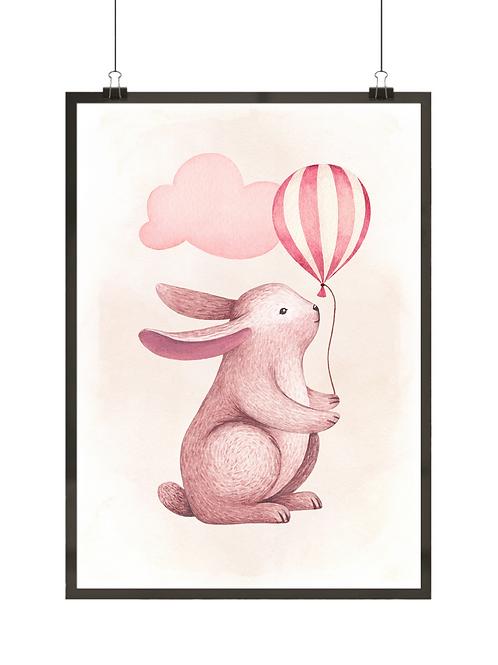 Królik z balonem