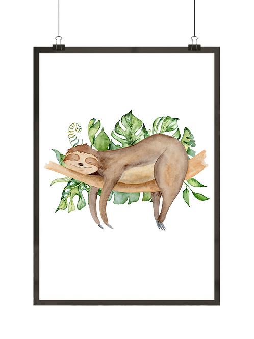 Leniwiec na gałęzi