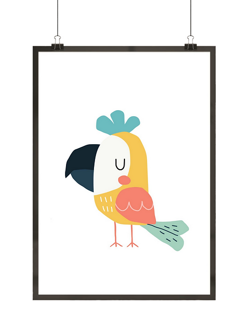 Kolorowa papuga
