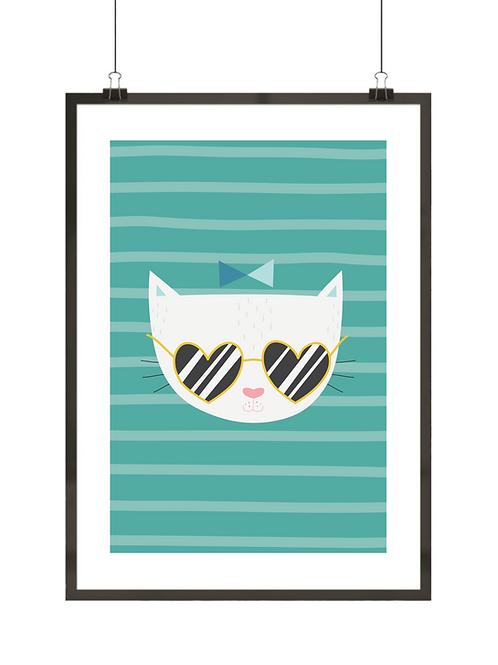 Kotek w okularach