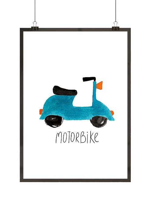 Niebieski skuter