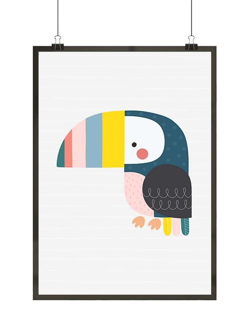 Kolorowy tukan