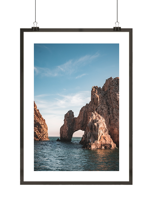 Plakat z łukiem skalnym w Meksyku