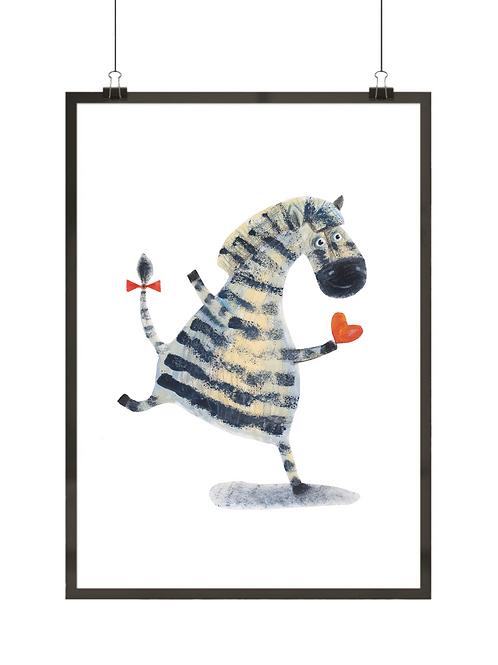 Zebra z serduszkiem