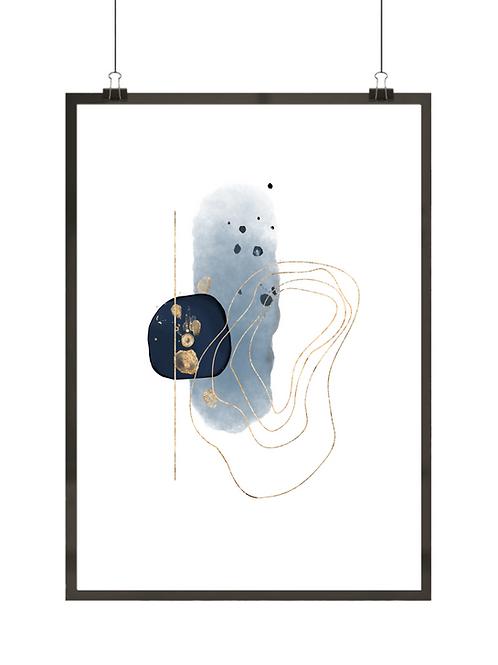 Granatowa abstrakcja nr 3