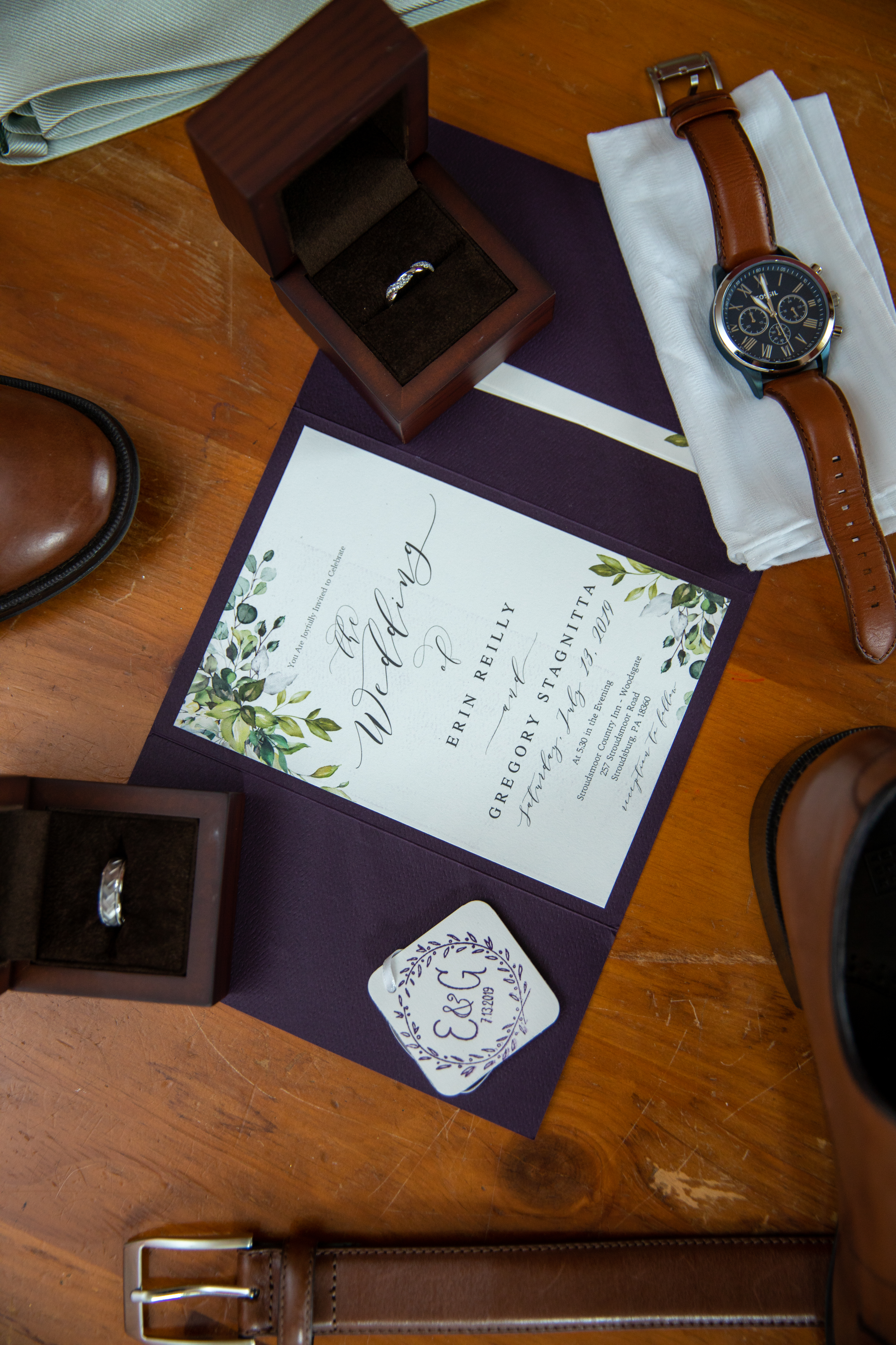 THE WEDDING DAY DETAILS