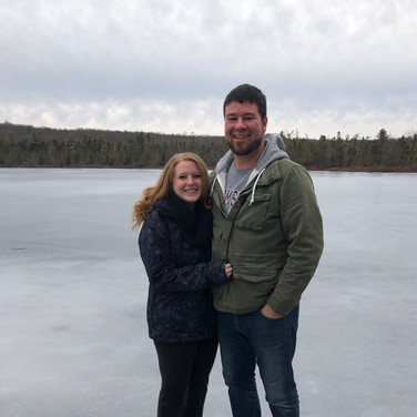 On our cabin's frozen lake