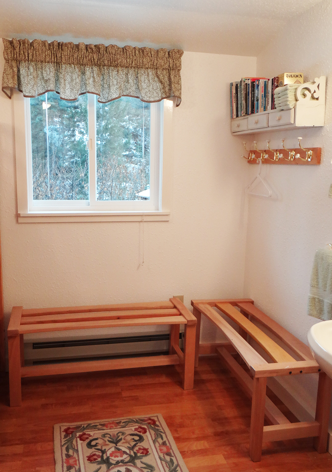 Bunk Room Gear Benches