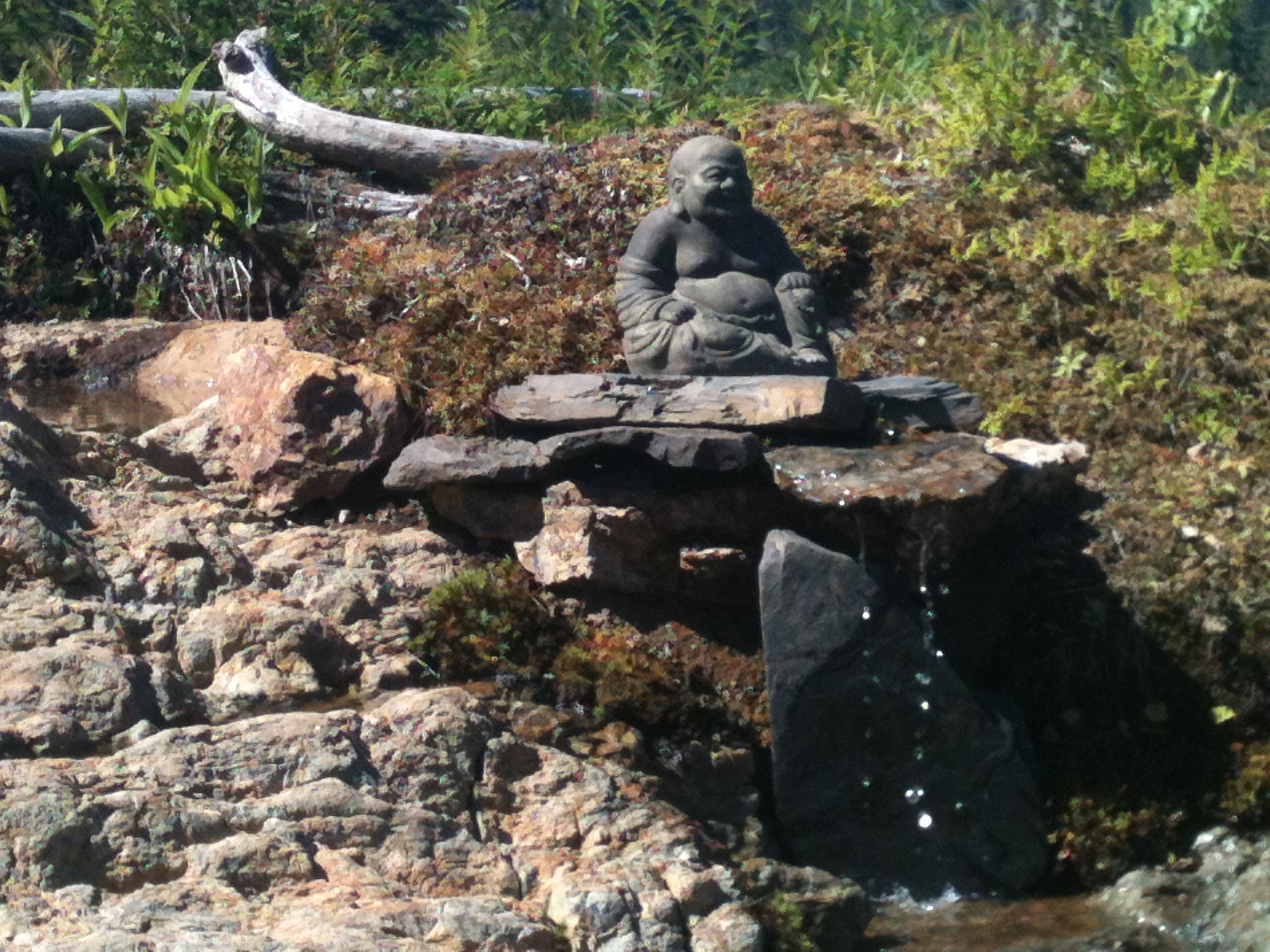 The little Buddha water feature