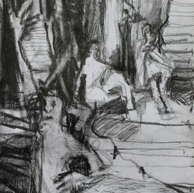 Figures and Stairs Composition