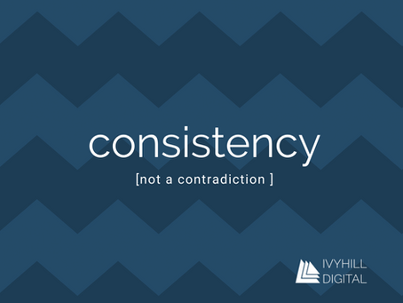 Consistency; the key to great marketing