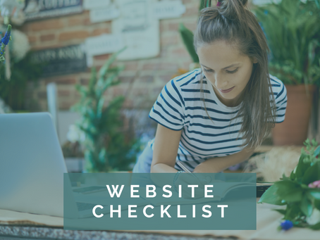 Checklist for an effective website