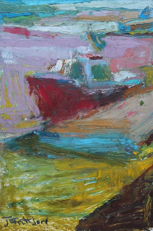 Red Boat (21x15cm)
