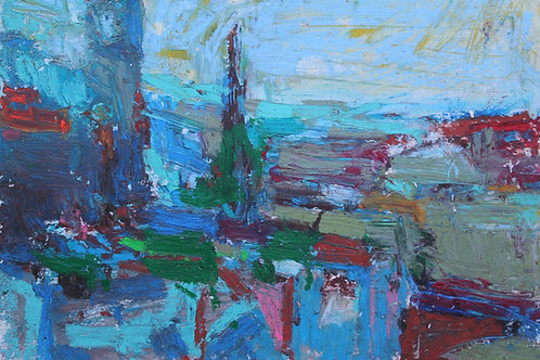View from Calton Hill (15x21cm)