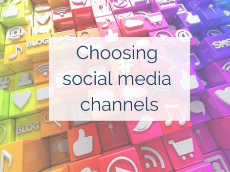 Choosing social media channels