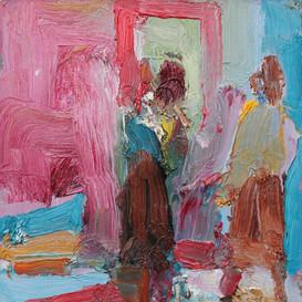 Two Women and Door