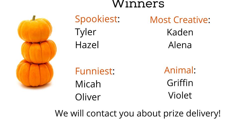 Virtual Pumpkin Carving Contest - Winners!