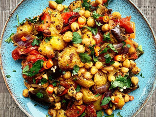 Indian-spiced Potatoes with Chickpeas