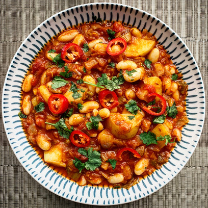 Spicy Leek and Butter Bean Stew