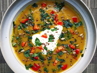 Indian Spiced Lentil & Carrot Soup