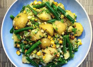 Green Bean, Sweetcorn & Musturd Potato Salad