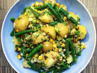 Green Bean, Sweetcorn & Musturd Potato Salad