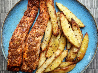 Tandoori Salmon and Chips