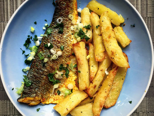 Masala fish and chips